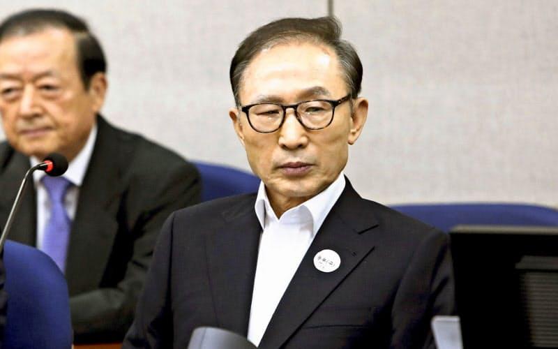 李明博元大統領、収賄で懲役17年確定 韓国最高裁