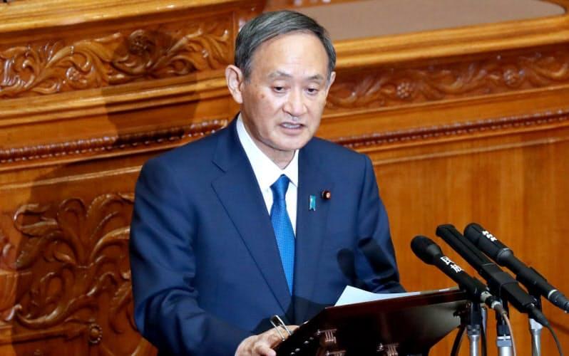菅内閣は行政デジタル化を優先課題に掲げている(10月29日、参院本会議)