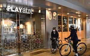 プレイアトレ土浦から「つくば霞ケ浦りんりんロード」に出発するサイクリストは多い