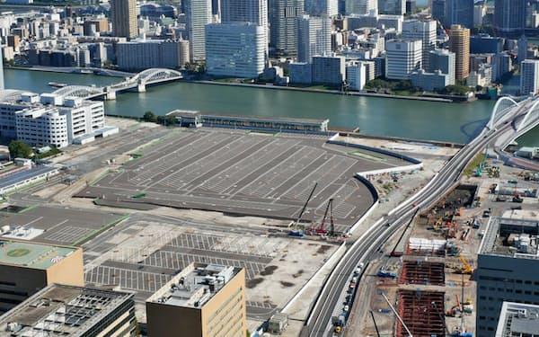 東京五輪用の車両基地の整備は終わったが、その後の利用方法は決まっていない