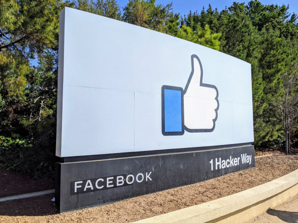 フェイスブックの7~9月期決算は22%の増収だった(カリフォルニア州メンロパークの本社)