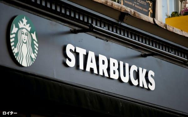 スターバックスは米国、中国市場の売り上げ減少が緩やかになってきたという(ロンドンの店舗)=ロイター