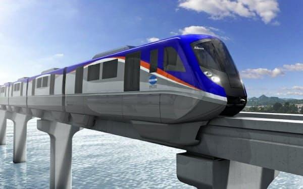 納入予定のモノレール車両(イメージ)