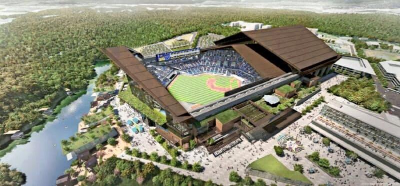 新球場は23年に開業を予定している(写真は完成イメージ)