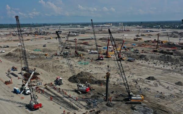 サムスンエンジにとって過去最大の受注案件となった(メキシコの建設現場)