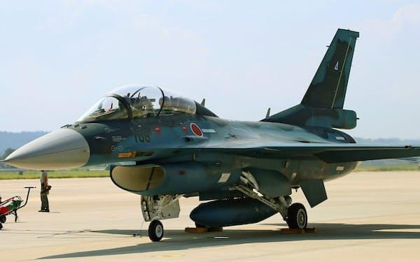 次期戦闘機は「F2」の後継となる(写真はF2)=航空自衛隊提供・共同
