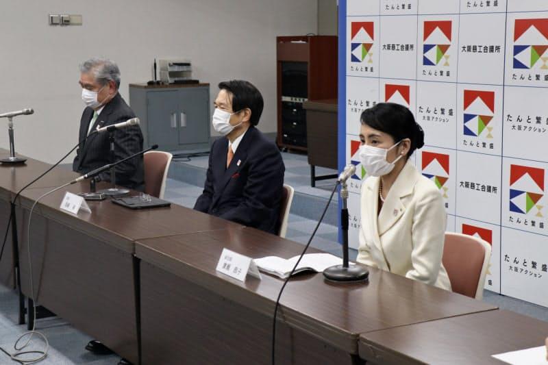 広瀬恭子氏(右)は大商初の女性副会頭となる