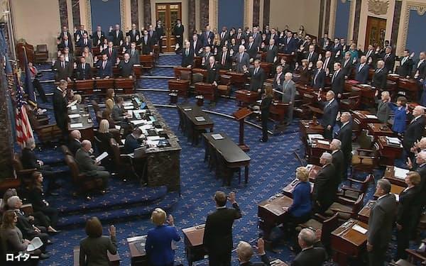 上院には政府高官や条約の承認権限があり次期政権の政策実現に大きな影響力を持つ=ロイター