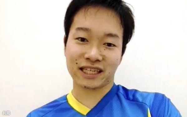 オンラインでの取材に答える、東京パラリンピック卓球男子代表の岩渕幸洋(4日)=共同