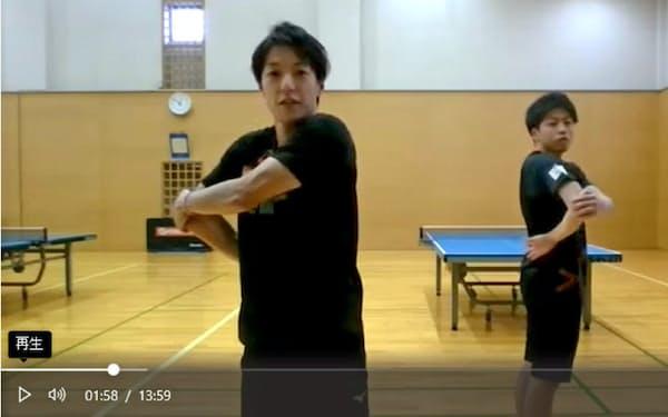 協和キリンは卓球部やテニス部の協力でオンラインのエクササイズ講座を始めた