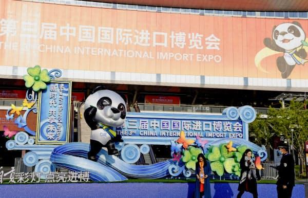 中国輸入博覧会は今年で3回目となる(上海市)=共同