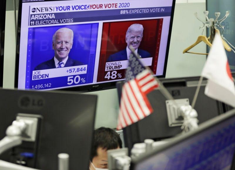 金融市場では米大統領選など様々なイベントが売買材料になるが…(写真は外国為替取引業者のディーリングルーム)=AP