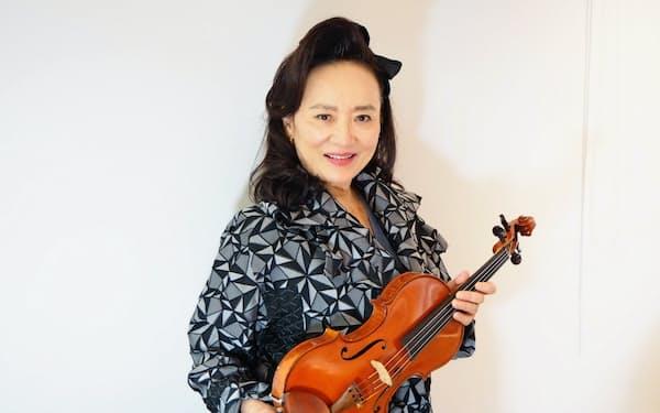 バイオリニストの前橋汀子