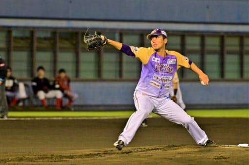 完封で神奈川に優勝をもたらした乾はNPB復帰の目標がある=神奈川フューチャードリームス提供
