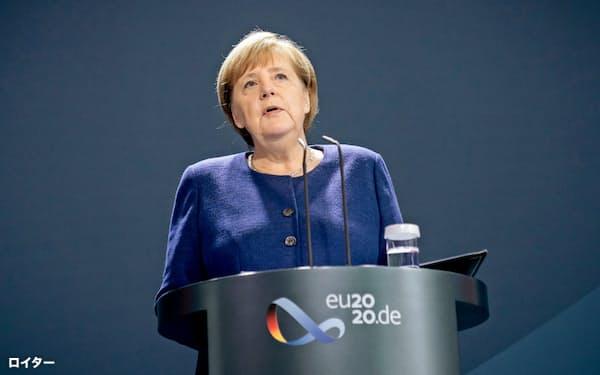 メルケル首相は米国との関係修復を模索する(9日、ベルリン)=ロイター