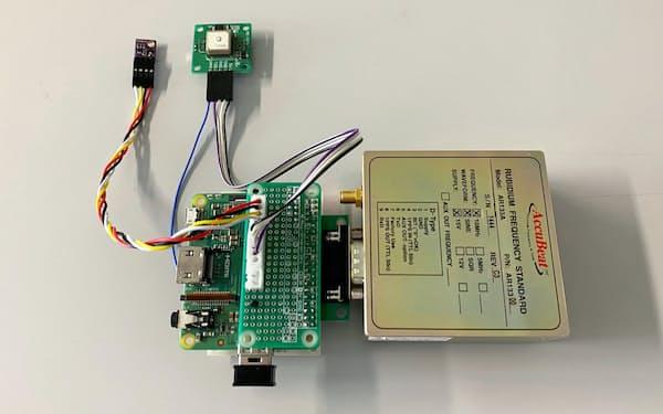 現在流通している原子時計を使用したIoTシステムの試作機