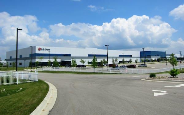 バッテリー業界は米国市場の拡大に期待する(米ミシガン州にあるLG化学の電池工場)