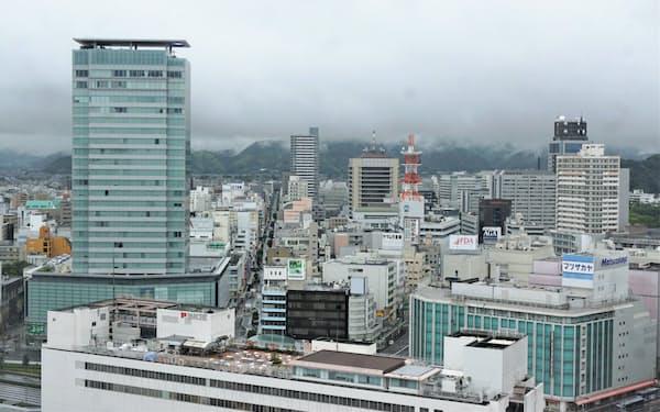 県内企業の最悪期は脱しつつある(静岡市中心部)