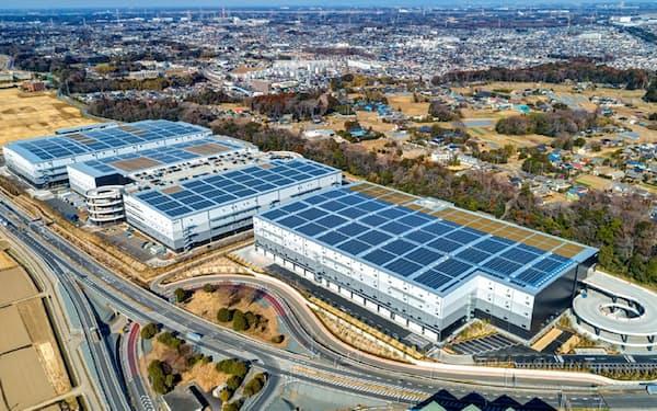 大型物流施設に注目する海外投資家が多い(千葉県流山市の日本GLPの施設)