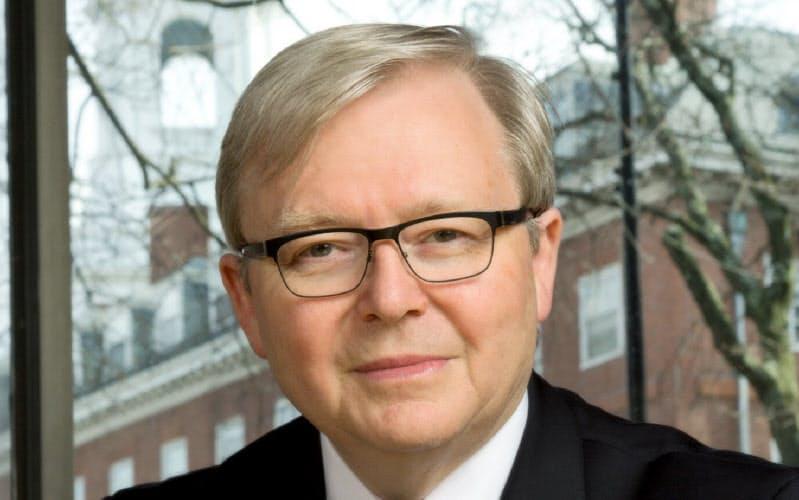 Kevin Rudd 07~10年、13年にオーストラリア首相。外交官出身で、外相経験も持つ。流ちょうな中国語を話し、中国通として知られる。15年から米アジア・ソサエティー政策研究所に所属。