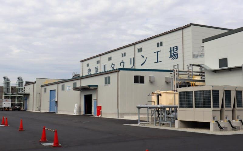 11月に完成したタウリン工場(大阪府寝屋川市)