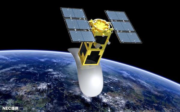滑走路のへこみなどをマイクロ波で検出するNECの人工衛星