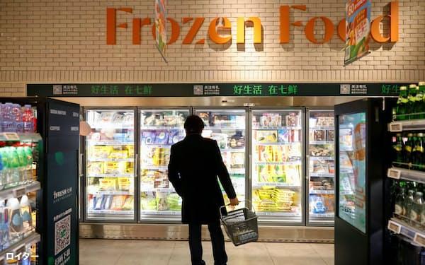 中国各地で輸入冷凍食品に対する検査が強化されている=ロイター