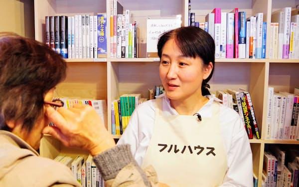全米図書賞(翻訳部門)を受賞した作家の柳美里(2018年、福島県南相馬市)