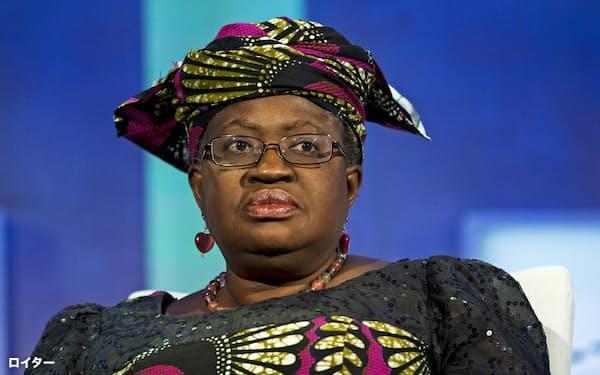 ナイジェリアのオコンジョイウェアラ氏はWTO事務局長選の決選投票で韓国の兪明希氏より多くの票を得た=ロイター