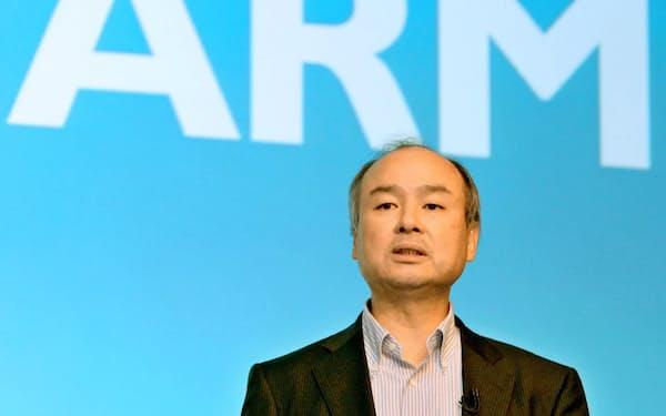 エヌビディアはソフトバンクグループ傘下のアームの買収を発表した(写真は16年)