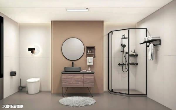 主力のトイレや浴室などの水回り用品はデザインも重視している(大白衛浴提供)