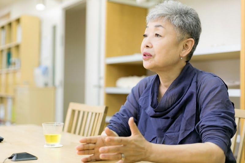 アバンティの渡辺智恵子代表。約60人の社員は9割が女性だ。