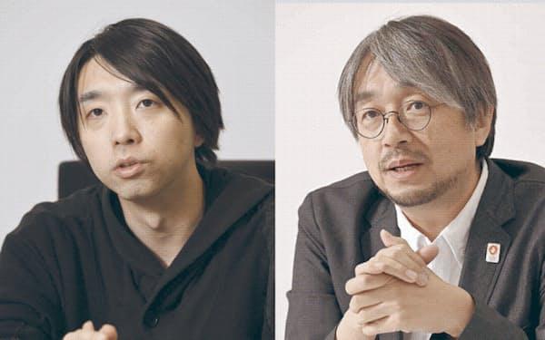 小山氏(右)と落合氏