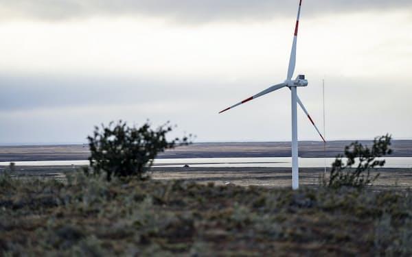 チリの風力発電所(南部パタゴニア地方)=チリ政府提供