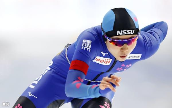 女子1000メートル 優勝した高木美帆(21日、YSアリーナ八戸)=共同