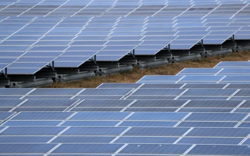 世界の再生エネルギーの新興企業への投資もコロナ禍の影響を受けた(太陽光発電所)