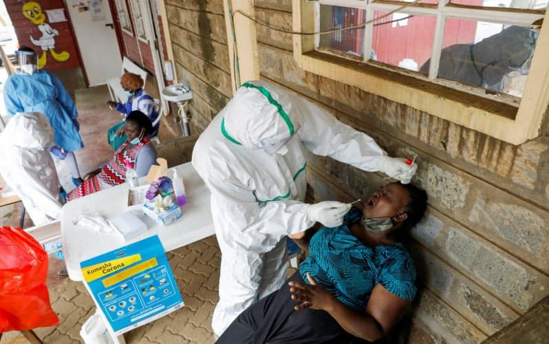 アフリカでは新型コロナの検査態勢も不十分とされる(ケニアの首都ナイロビ)=ロイター
