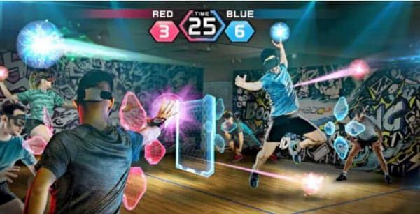 拡張現実(AR)を活用した超人スポーツ「HADO」の観戦画面イメージ