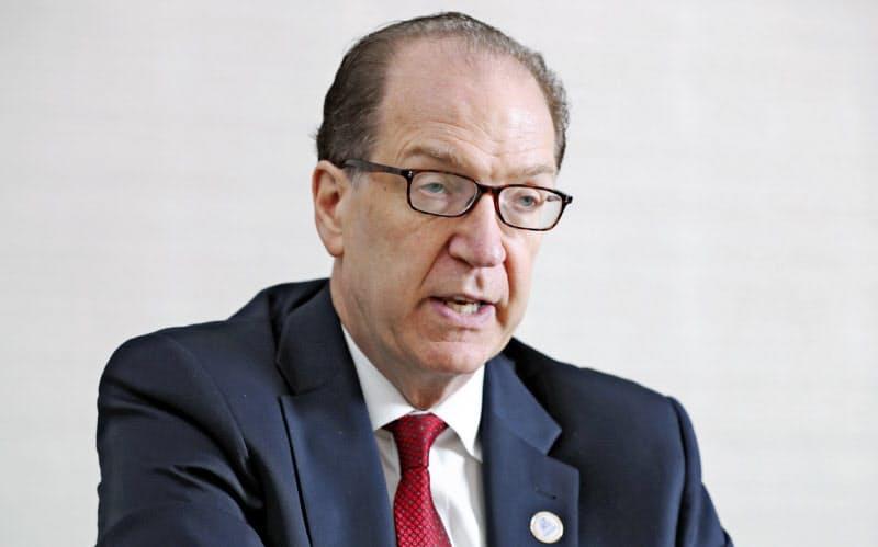 世界銀行のマルパス総裁は、債務問題への中国の関与が重要だと指摘した