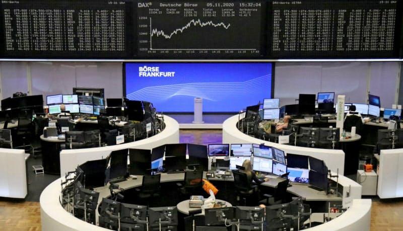 独株価指数DAXはフランクフルト証取上場の主要30銘柄で算出されてきた=ロイター
