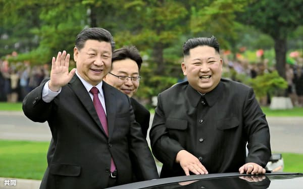 中朝首脳は19年6月に平壌で会談した=朝鮮中央通信・共同