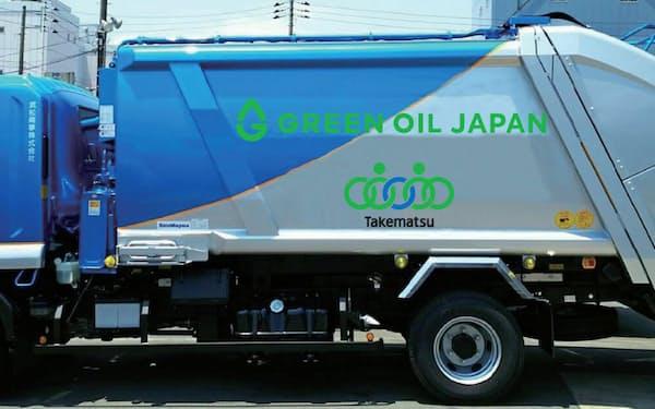 ユーグレナはセブン―イレブン・ジャパンのペットボトル回収事業で、回収車向けにバイオ燃料を提供する