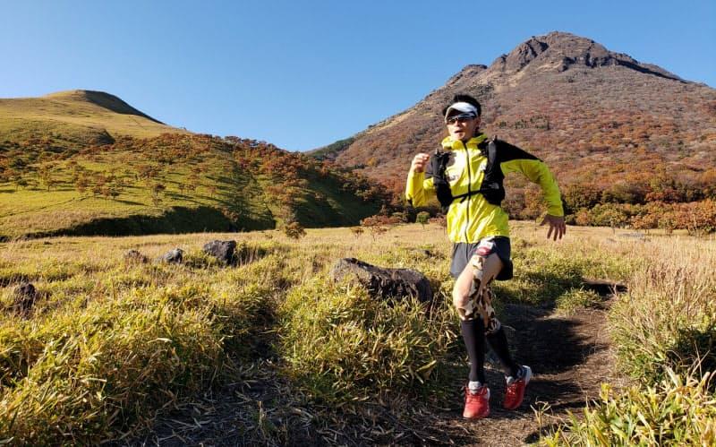 山を走る地脚づくりがマラソンの役に立つと最近やっと気付いた(九州の由布岳)