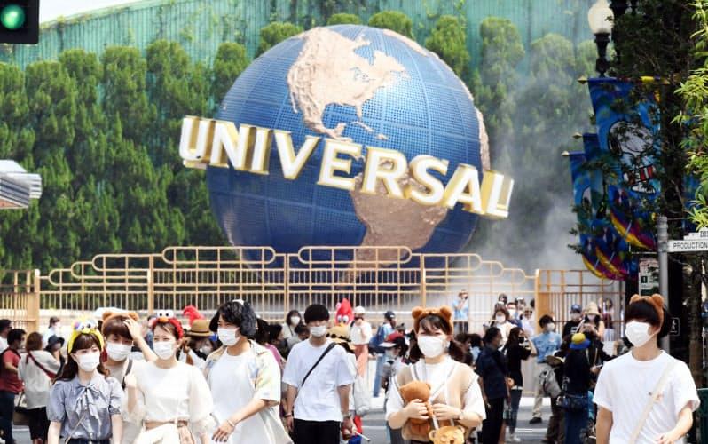 ユニバーサル・スタジオ・ジャパン(USJ)は全国から人を集めてきた(7月、大阪市此花区)
