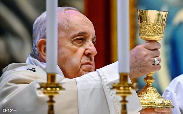 ローマ教皇フランシスコ=ロイター