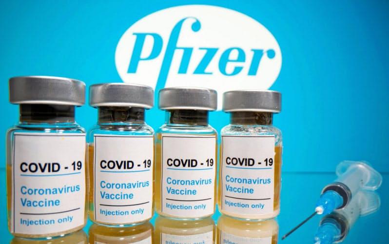 米ファイザーとドイツのビオンテックが開発を進める新型コロナのワクチン=ロイター