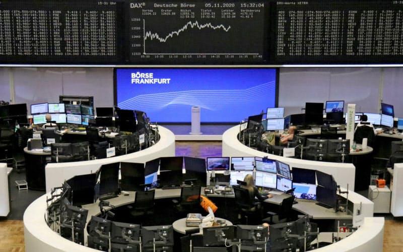 ドイツ取引所は買収に約1900億円を投じる(運営するフランクフルト証取)=ロイター