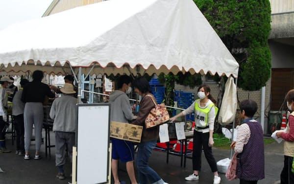 熊本地震では被災地支援にあたった(2016年4月)