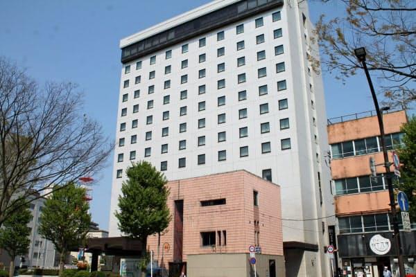 新型コロナの影響で宴会場の利用が大幅に減っていた(富山第一ホテル、富山市)
