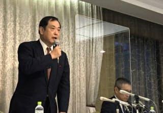 GRNの稲垣社長は「アフターコロナを見据え、事業の再構築を進める」と話した